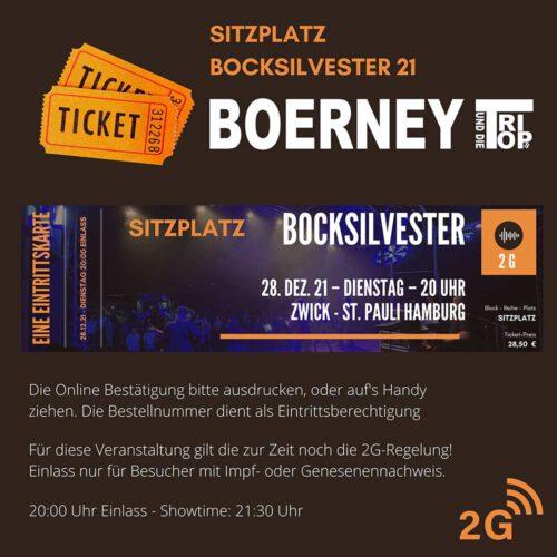 Eintrittskarte für den Bocksilvester im Zwick St Pauli Sitzplatzticket 28,50